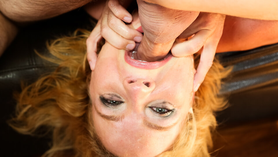 Krissy Lynn Gets Throat Fucked And Cum Covered By A Big Cock