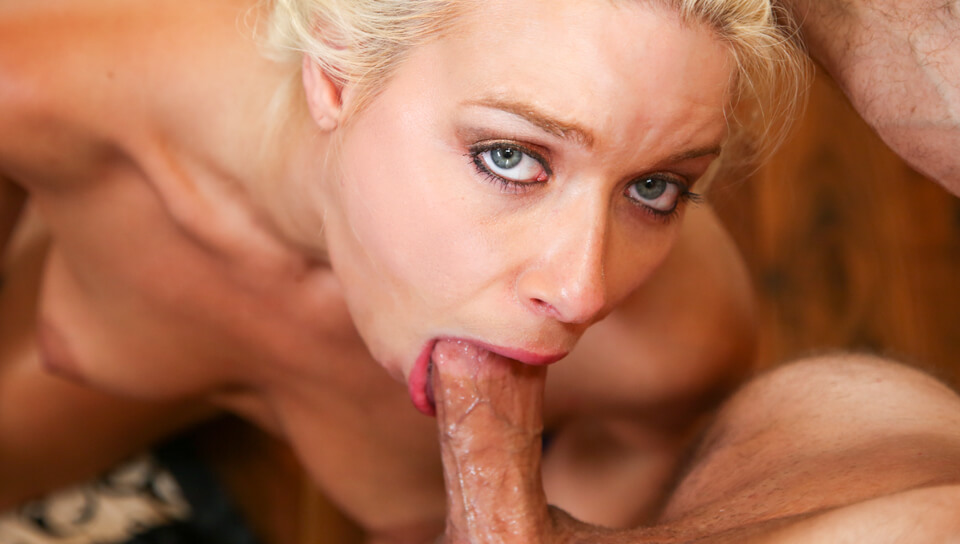 Sexy Anika Allbrite Gets On Her Knees And Gags On Big Cock